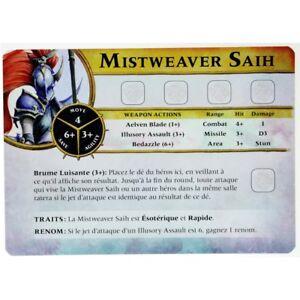 WQ33 CARTE MISTWEAVER SAIH VF WARHAMMER QUEST SILVER TOWER BITZ