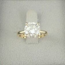 DIAMOND ENGAGEMENT RING 2 CARAT D SI1 ROUND SOLITAIRE 14K YELLOW GOLD APPRAISAL