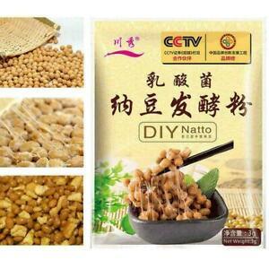 3g/Bag DIY Natto Powder Bacillus Subtilis Nattokinase Supplies Edible Age Fast