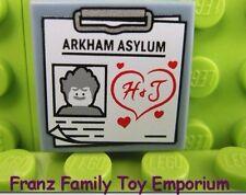 New LEGO 2x2 TILE Minifig Sand Blue Joker Arkham Asylum Batman Movie Series