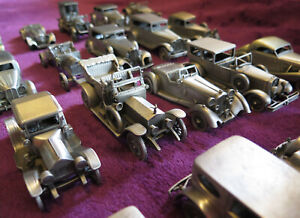 Danbury Mint Pewter Classic Cars of the World Collection/25 Cars - New
