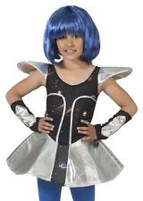 Space Girl Leia Kostüm Mädchen Kinder Alien Außerirdischer Weltall Verkleidung