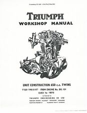 Triumph workshop service manual 1968, 1969 & 1970 TROPHY TR6R