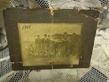 1908 Antique Cabinet Photo Group of Men Fighting over Beer Barrel HTF