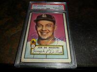 1952 TOPPS #286 Joe DeMaestri Autograph St.Louis Browns  PSA/DNA  D.2016