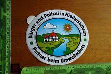 Alter Aufkleber Polizei Bürger in Niedersachsen Partner beim Umweltschutz
