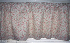 Valance Pink Rose Shabby UPHOLSTERY FABRIC 53 x 14 in