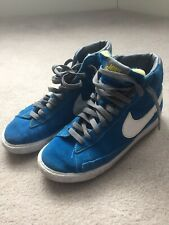 Nike High Top Blue Grey Lace Up Trainers Size 4 VGC
