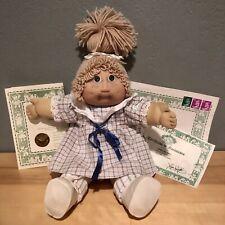 Vintage Cabbage Patch Kids Doll Jesmar made in Spain Girl with HTF Jesmar Dress