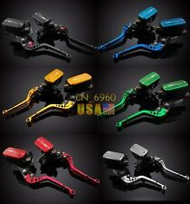 6 Colors Cluth Brake Levers Master Cylinder Reservoir For Kawasaki GPZ900R 90-93
