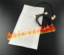 Universal Carbon Fiber Seat Heater Warmer Kit Heated Pad For Motorcycle ATV Bike