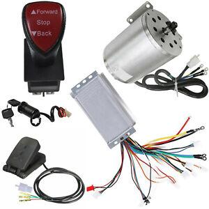 1800W 48V Brushless Motor Sprocket Controller Pedal Reverse Electric go kart ATV