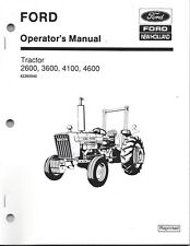 FORD 2600 3600 4100 4600 Tractor Operators Manual,  42260040