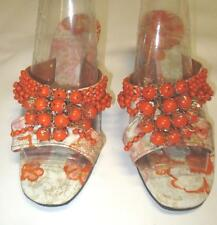 60/70's Vtg VLV Bobble Wedge Sandal Shoes, Worn Once Chic Glam Size 7/8