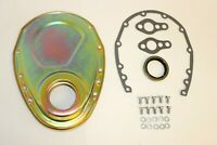 Zinc SB Chevy Timing Chain Cover Kit 327 350 383 400 SBC Gasket Seal Bolts Set