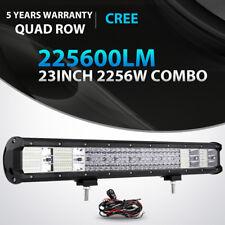 "23INCH 2256W QUAD ROW LED LIGHT BAR WORK LAMP SPOT FLOOD OFFROAD 4WD ATV 20"" 22"""