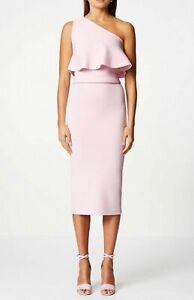 NEW Scanlan Theodore Crepe Knit Women's Dress Midi XS Small Light Pink Size 6
