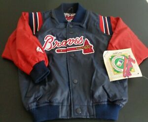 ATLANTA BRAVES Baseball MAJESTIC Diamond Collection VINTAGE Youth S Jacket NEW