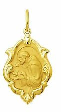 18k Gold St Francis of Assisi Medal Small, 0.9 grams - Perfect Image
