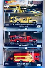 2018 Hot Wheels Car Culture Team Transport B Set of 3, Snake, Mongose & Porsche