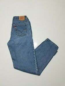 Vintage Levis 550 Relaxed Fit Blue Jeans Womens 12 L High Waisted Tapered