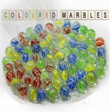 Coloured Glass Marbles Traditional Classic Toys Retro Game Party Marble 100pc
