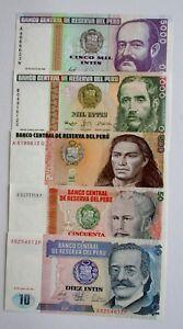 Ek // Billet 5 unités Peru : UNC