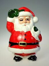 Lefton Santa Claus Hand Painted Ceramic Christmas Holiday Planter X H7058 Japan