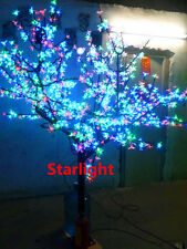 Outdoor 6.5ft LED Cherry Tree Christmas Tree RGB Without Changing Color 864 LEDs