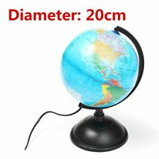 World Earth Globe Map Geography Education Gift Rotating Stand LED Desk Lamp