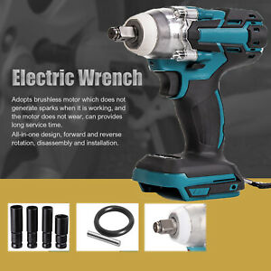 Cordless Electric Impact Wrench Gun 1/2'' Driver 580Nm Bare Tool Fit Makita DTW