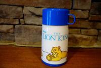 Vintage Aladdin Brand Disney Lion King Thermos Blue Color 3 Pieces Complete