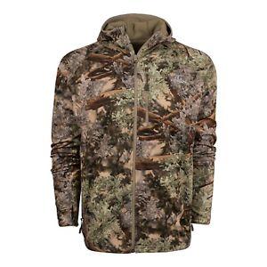 King's Camo Hunter Grid Fleece Full Zip Hoodie Desert Shadow