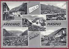 SONDRIO ARDENNO 02 MASINO - SALUTI da... VEDUTINE Cartolina viaggiata (196 ?)