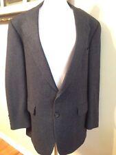 Aquascutum 2 Button Navy Blue Tweed Sport Coat Jacket  100% Lambswool Men's 46R