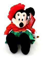 Disney Caroling Minnie Mouse 2002 Holiday Musical Caroling Animated Plush 13 in