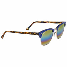 Ray-Ban Clubmaster Rb3016 1223 C4 Blue Bronze Mineral Fade Mirror Authentic 9ecb44f962