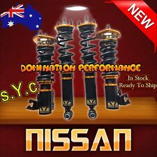Nissan Silvia S13 Coilover Kit - Complete SYC Fully Adjustable F+R Suspensions