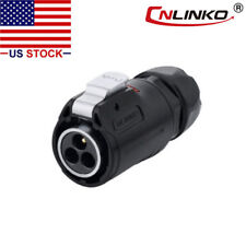 3 Pin Power Circular Connector Male Plug Outdoor Waterproof IP67 Heavy Duty M24