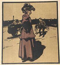 """William Nicholson (1872-1949) """"Coster"""" lithograph 1898"""