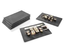 Schiefer Platten Set 6-tlg 20 x 30 cm Platzset Untersetzer Servierplatte