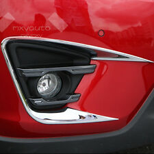 New Sport Chrome Front Fog Light Frame Cover For Mazda CX-5 2013-2016