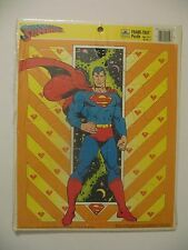 Vintage + RARE SUPERMAN Clark Kent Frame Tray Puzzle GOLDEN DC Comics