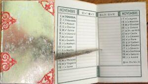 French Pocket Calendar/Petite Almanach 1944 w/Gold & Red Cover