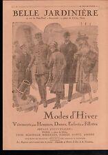 WWI Magasin Belle Jardinière Fashion Ladies Mode d'Hiver Paris 1918 ILLUSTRATION