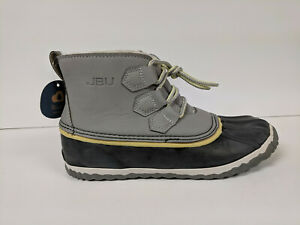 Jambu Nala Rain Boot, Light Grey/Yellow, Womens 6 M