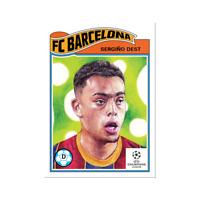 Sergino Dest USA - FC Barcelona - 2021 UCL Topps Now Living Set Card #318 UEFA