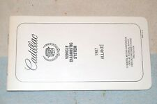 CADILLAC ALLANTE 1987 VEHICLE DIAGNOSTIC SYSTEM BOOKLET