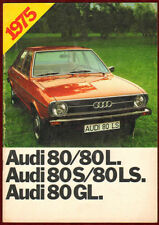 1975 Audi 80 Series Advertising Brochure Illustrated Germany Automobile Sales