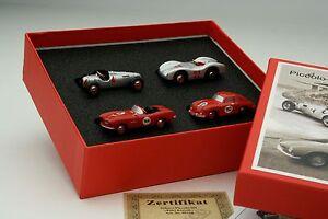 Schuco Piccolo / 4 Car Gift Set / Auto-Union Mercdes BMW Porsche / #SHU05210
